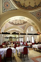 Ornate interior of The Daruzziyafe Restaurant, Istanbul, Turkey