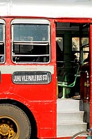 Close up picture of BEST bus , Bombay Mumbai , Maharashtra , India