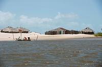 Small village, Rio Preguiças, Caburé, Maranhão, Brazil