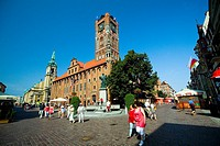 Torun church at the city centre, Poland