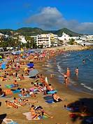 Sant Sebastià beach. Sitges. Catalunya. Spain.