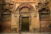 Gate of San Esteban, Cathedral-Mosque, Cordoba, Andalusia, Spain