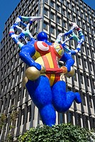 Art piece of Niki de Saint Phalle, Luxembourg, Europe