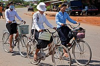 Bicycle, rural Cambodia