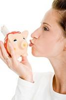 Kissing the piggy bank