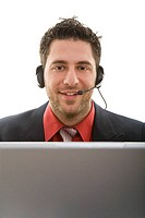 Friendly man with headset