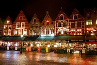 Markt square in center of Bruges, Belgium