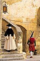 character in costume, History and Elegance festival in La Valette, Malta, Mediterranean Sea, Europe.