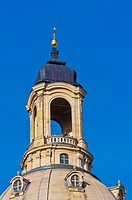 Dome of the Frauenkirche church, known as the Stone Bell, Dresden, Saxony, Germany