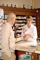Pharmacy, pharmacist, customer