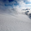 Misty Clouds and Snow Covered Glacier II