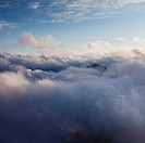 Misty Clouds and Mountain Peaks