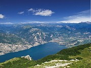 Italy, Lake of Garda, Riva del Garda, view from Monte Baldo