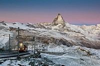 Gornergrat ridge and Mt. Matterhorn, Zermatt, Switzerland, Europe