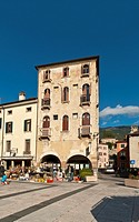 Italy, Veneto, Marostica, view of the old town