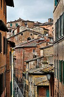 Buildings in the old city of Siena, Italy