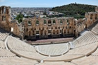 The Odeon of Herodes Atticus theater in Athens, Greece