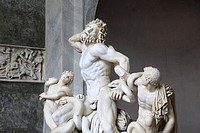 Laocoon classical marble statue in the Vatican Museum, Italy