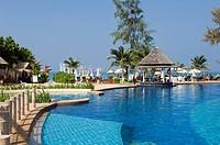 Pool, luxury hotel, Cha-Da Beach Resort, Klong Dao Beach, island of Ko Lanta, Koh Lanta, Krabi, Thailand, Asia