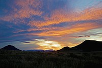 Sunset over Karoo in Cradock district, Eastern Cape Province, South Africa