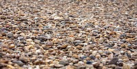 Close up view of a selection of river pebbles in the Luangwa Valley, Zambia