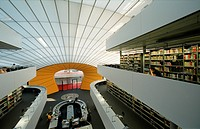 Philological Library of the University of Berlin, also known as The Berlin Brain, architect Sir Norman Foster, Dahlem, Zehlendorf district, Berlin, Ge...