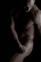 Man, muscular, body, nude