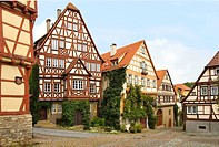 Timber Frame Houses in the medieval Town of Bad Wimpfen in Baden Würtemberg, Southern Germany