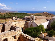 Greek Orthodox Church of Saint John the Theologian and Turkish Fort  Ancient site of Aptera  5th Century BC  West Crete, Greece