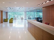 Office reception desk and lobby