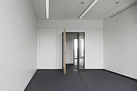 Open door in an empty office