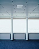 Windows of an empty office