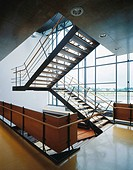 Stairwell in a contemporary office