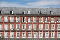 Apartments Facade, Plaza Mayor, Madrid, Spain (thumbnail)