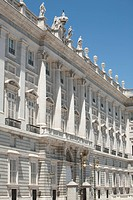 Facade of the Palacio Real, Madrid, Spain