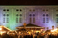 The Rezidenz Christmas Market at night, Munich, Germany