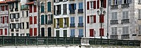 Houses with shuttered windows, Bayonne, Aquitaine, France, Europe