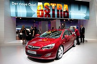 Presentation of the new Opel Astra car at the 63. Internationale Automobilausstellung International Motor Show IAA 2009 in Frankfurt, Hesse, Germany, ...