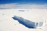 Aerial picture, pack ice of the Antarctica