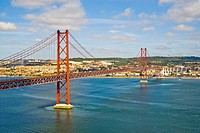 Bridge 25 de Abril, Lisbon, Portugal