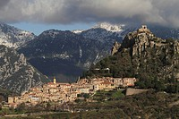 Sainte-Agnès, highest mountain village on the Mediterranean, Département Alpes Maritimes, Région Provence-Alpes-Côte d'Azur, Southern France, France, ...