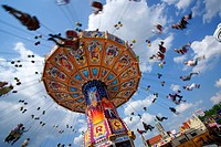 Chairoplane, spring festival, Theresienwiese, Munich, Bavaria, Germany, Europe