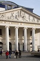 Belgium, Flanders, Brussels, Le Bourse, Stock Exchange, Facade...