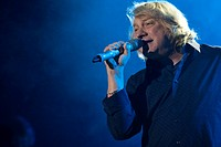 Lou Gramm, singer and frontman of the British_American band Foreigner, live at Rock Meets Classic at the civic hall Sursee, Lucerne, Switzerland
