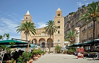 Italy, Sicily, Cefalu, the Cathedral                                                                                                                  ...