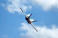 F/A-18 Hornet military aircraft in flight