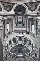 Paris, le Tombeau de Napoleon, France, historic copper_plate etching from 1860