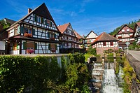 Alte Kelter pub with weir, Reichental, Black Forest, Baden-Wuerttemberg, Germany, Europe