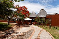 Satara rest camp, bungalows, Kruger National Park, South Africa