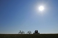 Cyclists, Sloten, Friesia, Holland, Netherlands, Europe